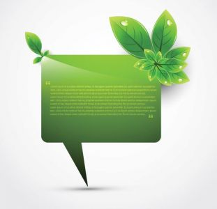 Creative green leafs vector