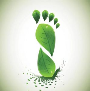 Creative green leafs template