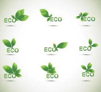 Creative green leafs design