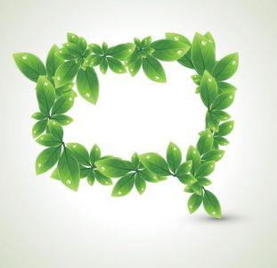 Creative bubble leafs design