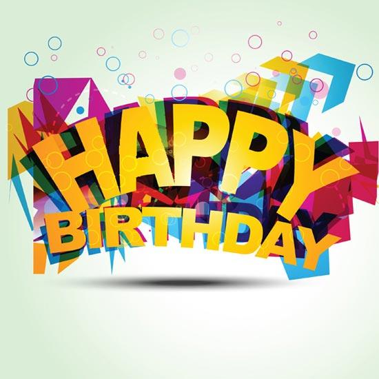 Creative Happy Birthday Fonts Vector