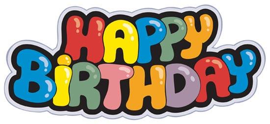Happy Birthday Schriftart ~ Creative happy birthday fonts vector