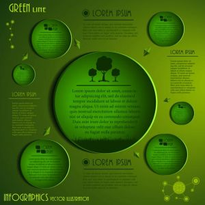 Creative infographics rings vector labels