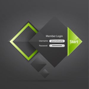 Creative web login forms vector