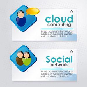 Creative social network vector cards