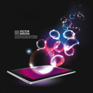 Creative tablet vector design
