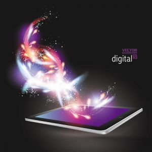 Creative tablet vector