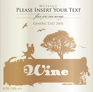 Creative wine bottle labels vector