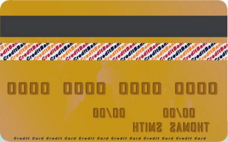 Credit card vector template