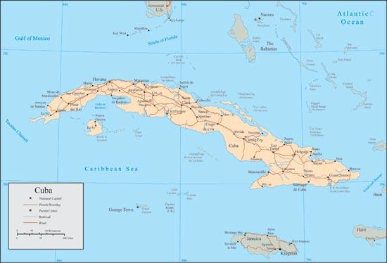 Cuba vector maps