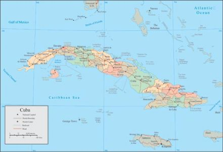 Cuba vector map