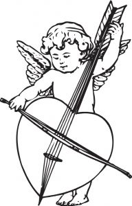 Cupid cartoon sketches vector