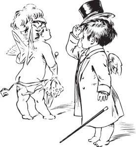 Cupid cartoon sketches vector