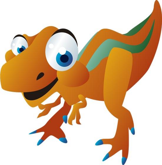 Cute Baby Dinosaurs Cartoon Vector