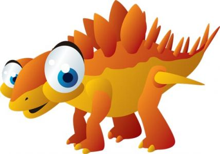 Cute baby dinosaurs cartoon vector