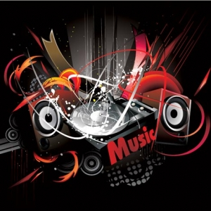 Music poster in vector format