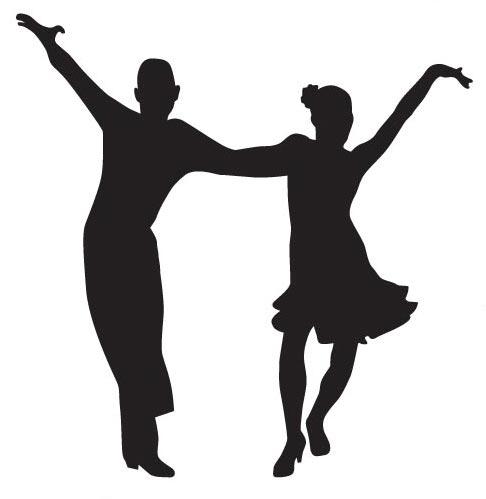 Dancing Tango Silhoutettes Vector