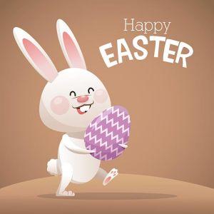 happy easter card cute bunny egg decorative,happy easter card cute bunny egg decorative
