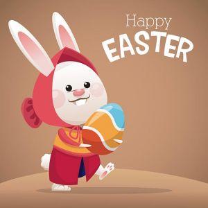 happy easter card cute girl bunny egg,happy easter card cute girl bunny egg