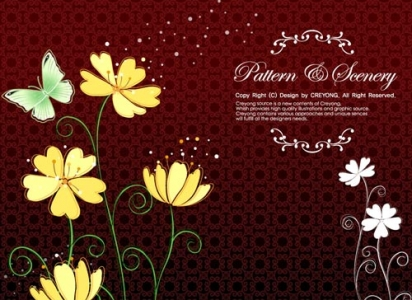 Decorative flower banner