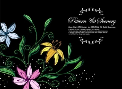 Decorative flower poster
