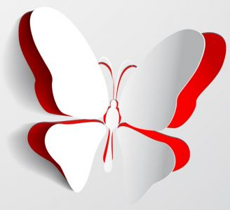 Decorative paper butterfly vectors