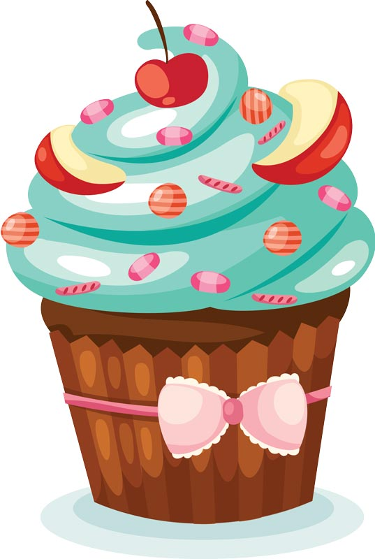 free cartoon clip art cup cakes with sprinkles