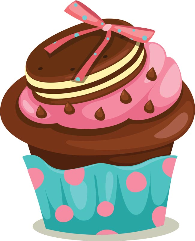 Cupcake Vector Art : Delicious cupcakes with sprinkles vector