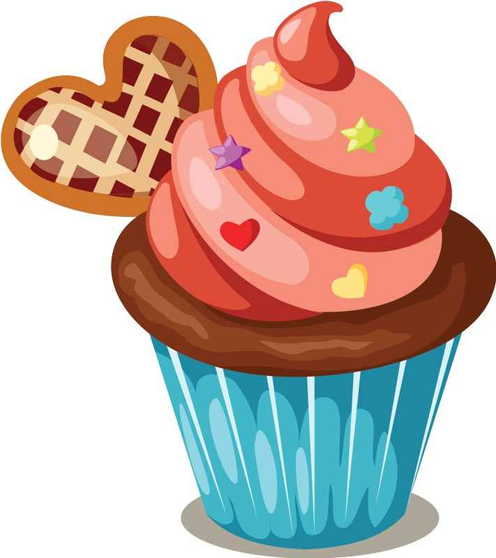 License You Can Use Delicious Cupcakes With Sprinkles Vector For
