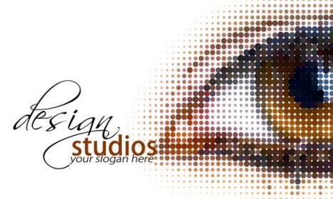 Design studio business card back