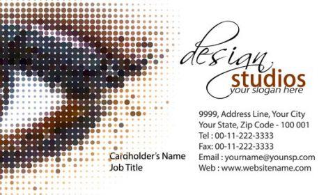 Design studio business card front