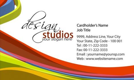Abstract business card front