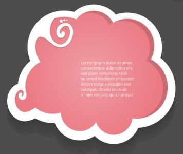 Dialog box shaped labels vector