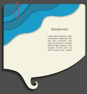 Dialog box shaped labels vector