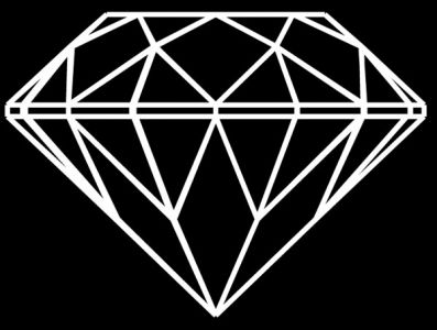 Diamong geometric shapes vector