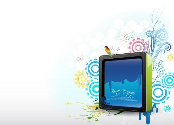 Digital billboard vector