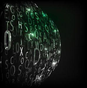 Digital collage words vector