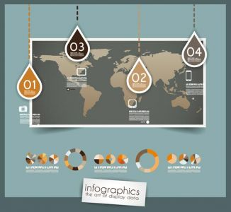 Digital labels infographics vector