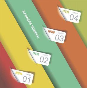 Digital labels infographics vector