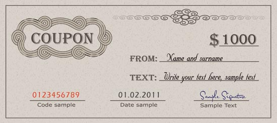 Diploma Certificate And Coupon Template