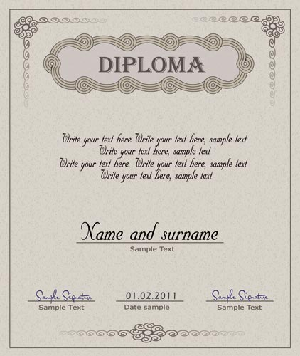 Diploma certificate and coupon template diploma template vector yadclub Image collections