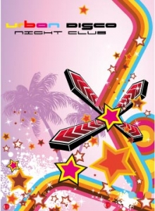 Disco music flyer