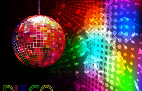 Disco party banner