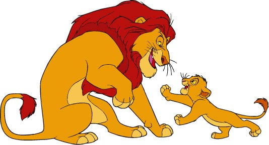 Cartoon Characters Lion King : Disney cartoon vector cliparts