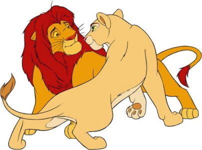Lion King clipart in corel draw format