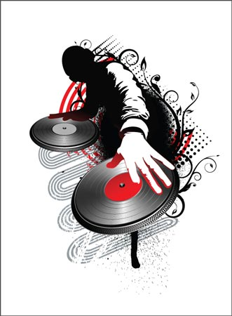 dj posters vector templates. Black Bedroom Furniture Sets. Home Design Ideas