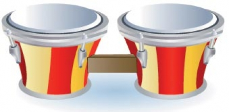 Drums music vector
