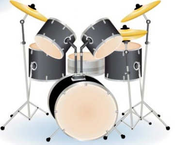 Drums music template