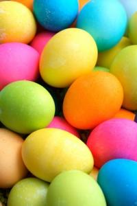Easter basket eggs