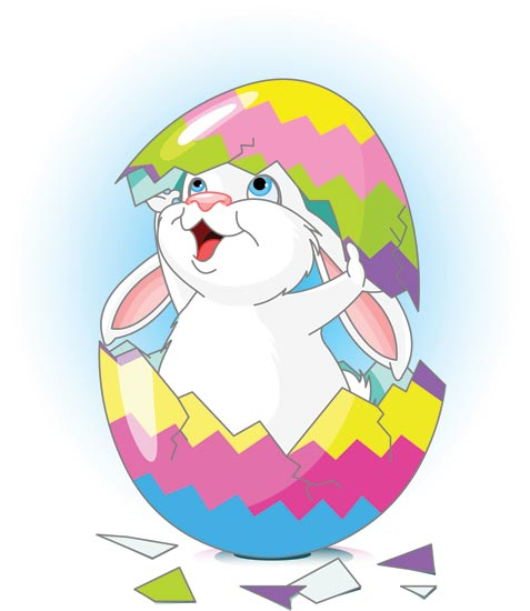 Easter Bunny With Eggs Clipart Easter bunny an...